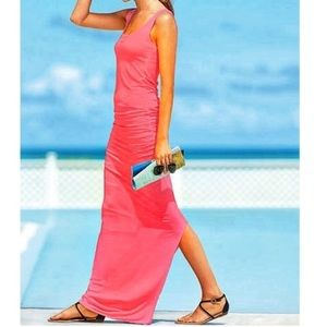 Victoria secret ruched maxi dress in pink